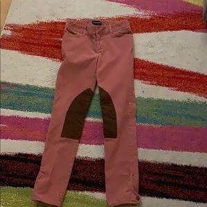 Ralph Lauren Pink Corduroy Equestrian Riding Pants